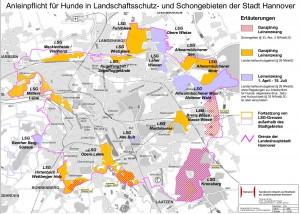 Leinenzwang im Stadtgebiet Hannover (Quelle: Stadt Hannover)