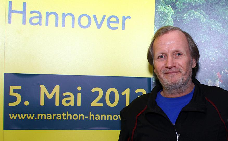 Christian Hottas wird am 5. Mai in Hannover zu seinem 2000. Marathon starten.