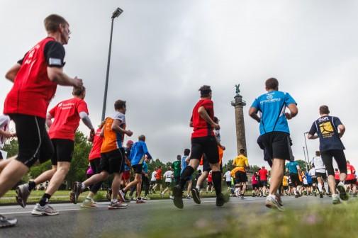 18.418 Sportler waren beim Hannover-Marathon unterwegs. Foto: dpa