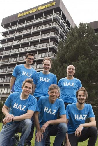 Staffel der HAZ für den Hannover-Marathon 2015.