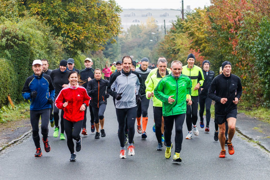 Die HAZ-Laufgruppe am Lindener Berg. Foto: Philipp von Ditfurth