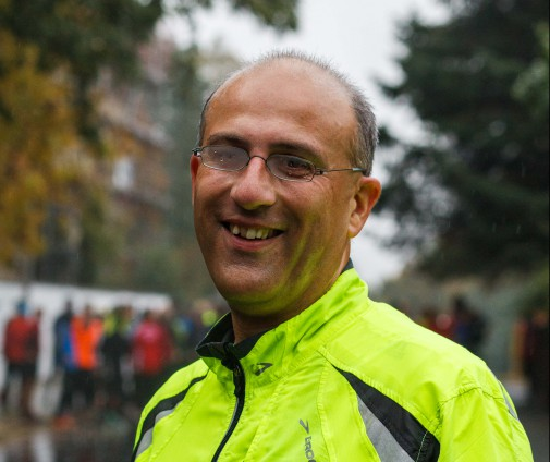 Eric Hess beim ersten Trainingslauf Anfang Oktober (Foto: v. Ditfurth)