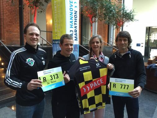 Lars Lehnhoff, Jan Raphael, Stefanie Eichel und Markus Pingpank. Foto: Eichels Event