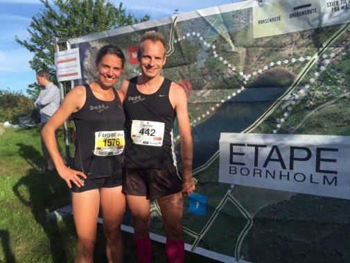 Gwendolyn Mewes und Jörg Kleinholz-Mewes aus Hannover sind fünf Etappen gelaufen. Foto: privat