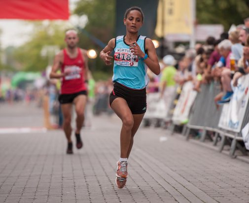 Die Siegerin im 4 km- und 10 km-Lauf: Die Äthioperin Sintayehu Kibebo. (Foto: Bork)