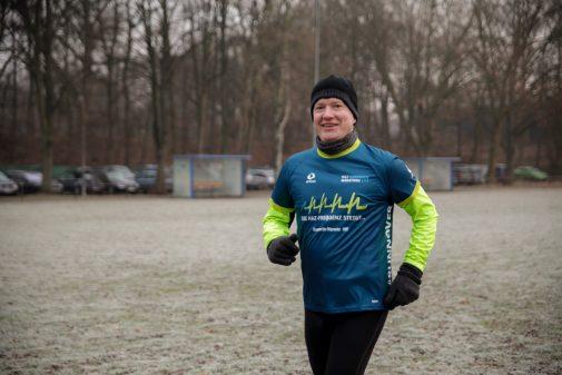 Mike Asche trainiert mit der HAZ-Gruppe für den Hannover-Marathon. Foto: Katrin Kutter